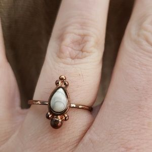 Vintage Stone Brass Ring